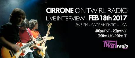 Cirrone on Twirl Radio. Graphic courtesy of Cirrone.